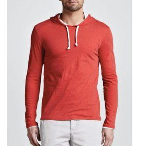 VINCE. Double Layer Red Mens Pima Hoodie - Size M
